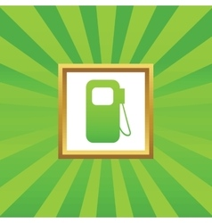 Gas station picture icon vector