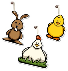 Easter hangtags vector