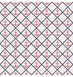 Seamless pattern with cross lines and anchor vector