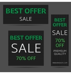 Best offer banners vector