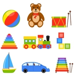 Icon set toys vector