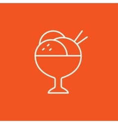 Cup of an ice cream line icon vector