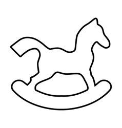 Horse toy line vector