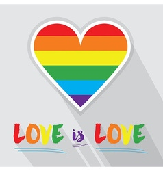 Rainbow pride love heart vector