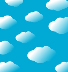 Abstract sky clouds background vector