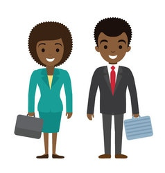 afro american businessman and businesswoman vector image vector image