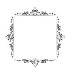 black classic vintage square frame vector image vector image