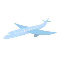 blue cute airplane cartoon style travel isolated vector image
