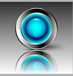 Blue futuristic circle vector
