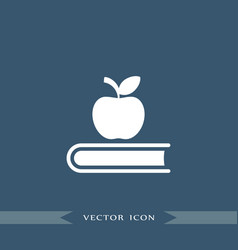 book icon education apple sign vector image