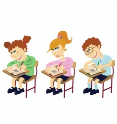 cartoon students vector image vector image