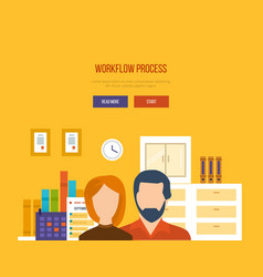 Collaboration and workflow management planning vector