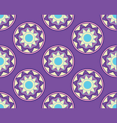 Elegant ornaments lace mandala vector