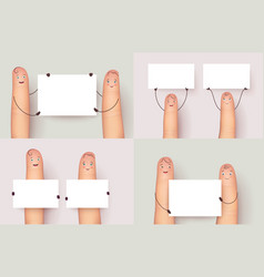 Finger set holding copyspace poster vector