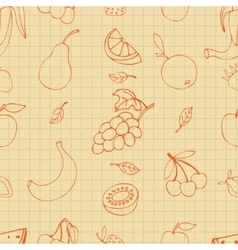 Fruit doodles vector