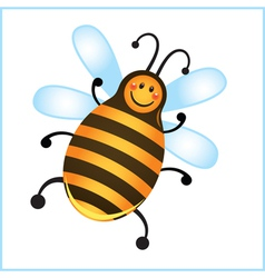 funny bee in frame cartoon vector image