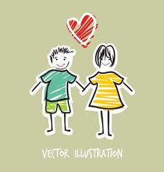 Handdraw familija2 vector