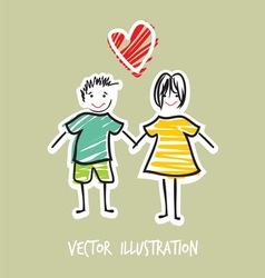 handdraw familija2 vector image vector image