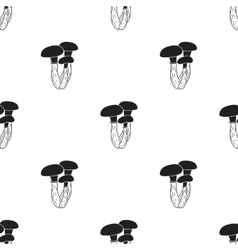 Honey agaric icon in black style isolated on white vector