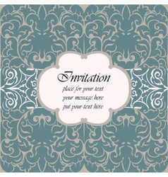 Invitation card with vintage ornaments vector