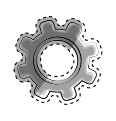 Isolated gear draw vector image vector image