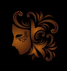Mask with ornament vector
