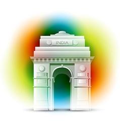 patriotic indian background vector image vector image