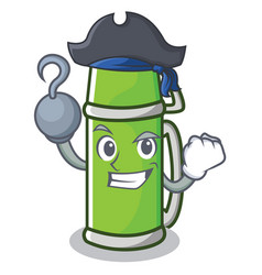 Pirate thermos character cartoon style vector