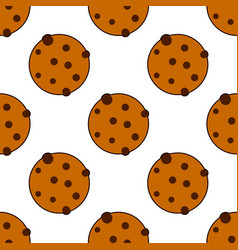 Seamless cookies pattern flat style vector