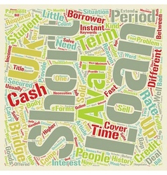 Short Term Loans UK A Cover For Short Period text vector image vector image