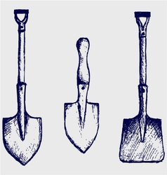 Shovel sketch vector