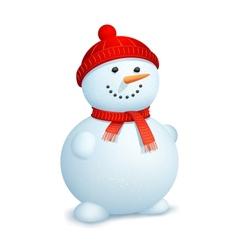 Snowman wearing scarf vector