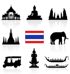 Thailand icon vector