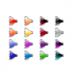 triangle arrow buttons vector image