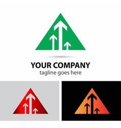 Triangle with arrow logo vector