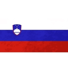 True proportions Slovenia flag with texture vector image vector image