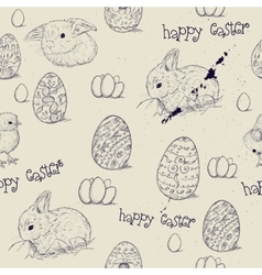 Vintage seamless texture with easter eggs vector image vector image