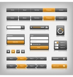 web design elements with reflection vector image