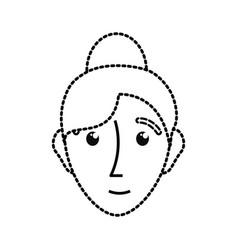 woman sticker vector image