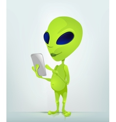 Cartoon character alien 034 cs5 vector