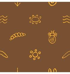 seamless pattern with Australian aboriginal art vector image