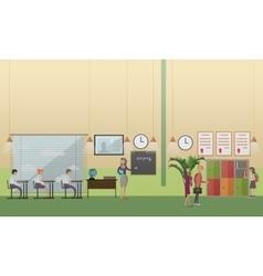 School office concept in flat vector