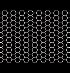 Steel chrome cells on black background vector