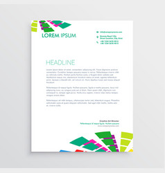 Abstract letterhead template with colorful shapes vector