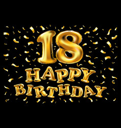 18 years anniversary happy birthday joy vector