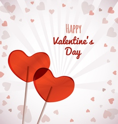 Lollipops heart shaped valentines day vector