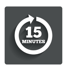 Every 15 minutes sign icon full rotation arrow vector