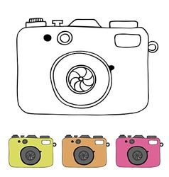 Abstract camera design vector