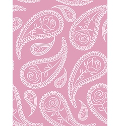 Paisley seamless pattern with roses vector