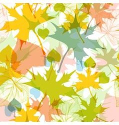 Fall leaves seamless pattern vector